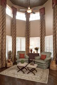 Triple Window Curtains Living Room Living Room Window Treatments Literarywondrous Photo