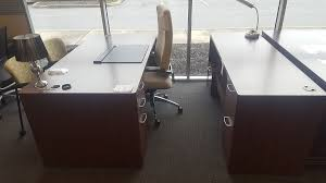 hon attune single ped desk and credenza set w printer stand