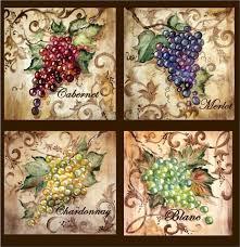 Grapes And Wine Home Decor Tre Sorelle For Home Decor