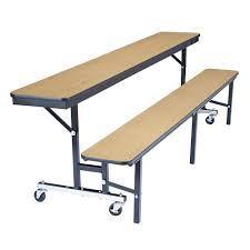 cafeteria benches national public seating cbg96 8 foot mobile convertible cafeteria