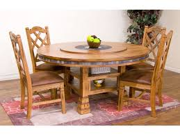 round table mt shasta sunny designs dining room sedona round table with lazy susan 1225ro