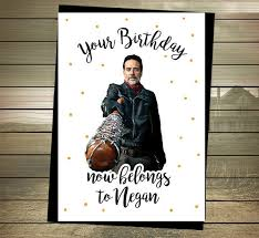 walking dead wrapping paper the walking dead birthday card negan happy birthday