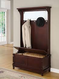 nice mahogany wooden design with 5 hooks and hidden storage feat