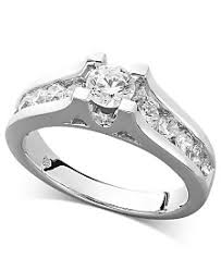 channel engagement ring channel set womens engagement and wedding rings macy s