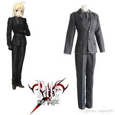 Altria Pendragon Saber Cosplay Costumes Japanese Anime Game Fate