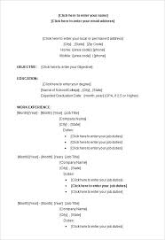 free download resume templates for microsoft word 2003 free