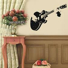 music wall decor guitar wall art decals color the walls of your house
