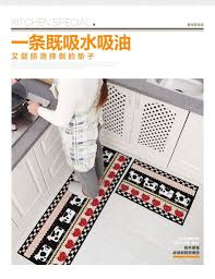 2pcs set kitchen carpets rugs floor carpet living room decorative