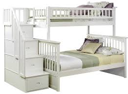 Free Plans For Twin Over Full Bunk Bed by Amazon Com Columbia Staircase Bunk Bed Twin Over Full White