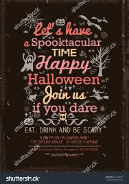 halloween party typography invitation template cardposterflyer
