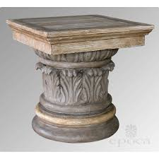 faux bois side table american neoclassical style gray painted and faux bois corinthian