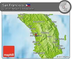 san francisco quezon map free physical 3d map of san francisco