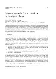 information and reference services in the digital library pdf