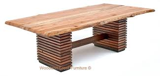Slab Wood Table by Organic Dining Table Sustainable Environmentally Friendly