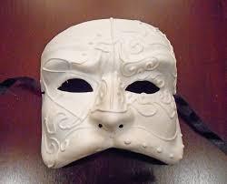 unpainted masks theater mask