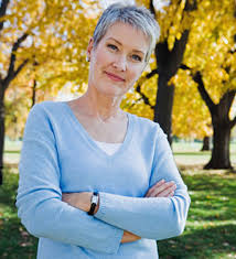 middle age women with blue hair mistakes of middle age women woman in park corbis middle