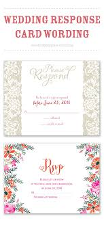 wedding reply card wording response card wording