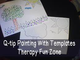 q tip painting with templates therapy fun zone