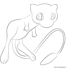 151 mew pokemon coloring pages printable