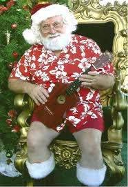 christmas in hawaii santa can play the ukulele as i listen