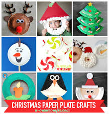 plate santa paper crafts for kids christmas u create craft