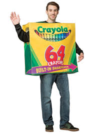 crayon costume crayola 64 crayon box costume for adults