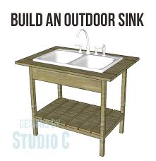 outdoor kitchen sinks ideas diy project plan build an outdoor sink part one via deanna