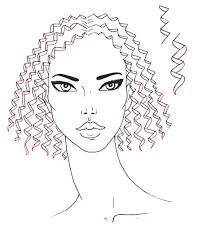 how to draw curly hair i draw fashion