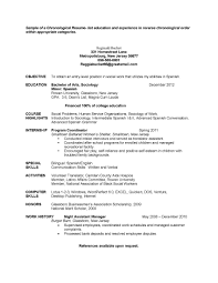 entry level chronological sample social work resume examples with
