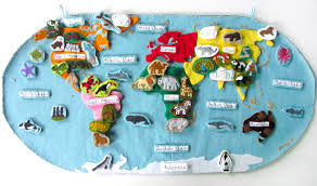 animals of asia for the montessori wall map u0026 quietbook with