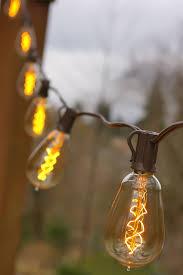 vintage light bulb strands vintage bulb string lights 25 foot brown wire st15 spiral bulb
