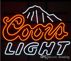 coors light bar sign 2018 custom new coors light mountains real glass neon sign light