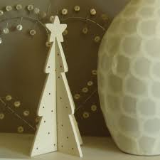 these slot together wooden christmas tree decorations look great