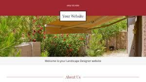 landscape designer website templates godaddy