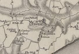 clacton on sea map history of great clacton