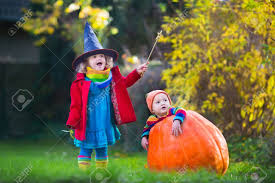 Boys Pumpkin Halloween Costume Witch Costume Baby Boy Huge Pumpkin Playing
