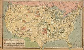 United States Geography Map by Map The Indians In The United States