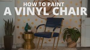Vinyl Upholstery Spray Paint How To Spray Paint Vinyl Video Hgtv