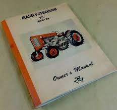massey ferguson 85 tractor operators owners manual mf gas