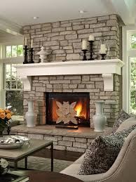Mantel Ideas For Fireplace by Custom Built Fireplace Ideas For A Living Room Stone Fireplace