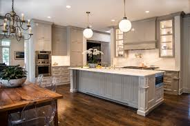 Kitchen With Painted Cabinets Painting Crown Molding To Match Cabinets An Example In Sherwin