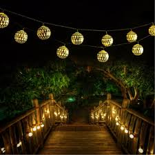 Solar Lantern String Lights by Goodia Led Globe String Lights Battery Operated 10 49ft 30 Silver