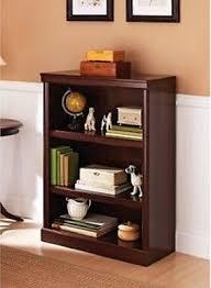 Sauder 3 Shelf Bookcase Cherry Home Office Wooden Small 3 Shelf Bookcase Adjustable Bookshelves