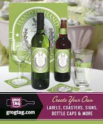 custom wedding wine labels grogtag