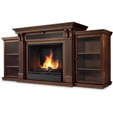hazelwood electric fireplace media console w acrylic ice