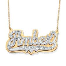 14 karat gold nameplate necklaces lofty idea real gold nameplate necklace necklaces personalized top