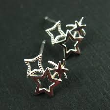 Wholesale Jewelry Making - wholesale sterling silver firework studs earrings for jewelry