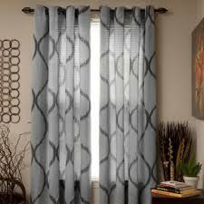 Sheer Metallic Curtains Silver Sheer Metallic Curtains Wayfair
