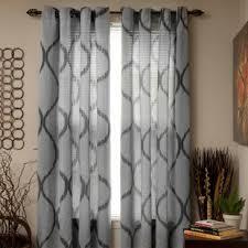 Grey Metallic Curtains Silver Shimmer Curtains Wayfair