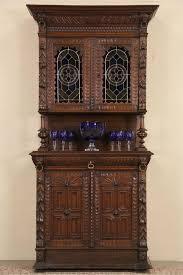 sold renaissance lion carved oak 1880 french sideboard cabinet